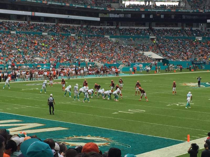 Seating view for Hard Rock Stadium Section 101 Row 15 Seat 8