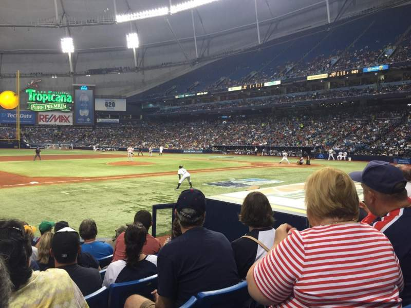 Seating view for Tropicana Field Section 119 Row M Seat 9