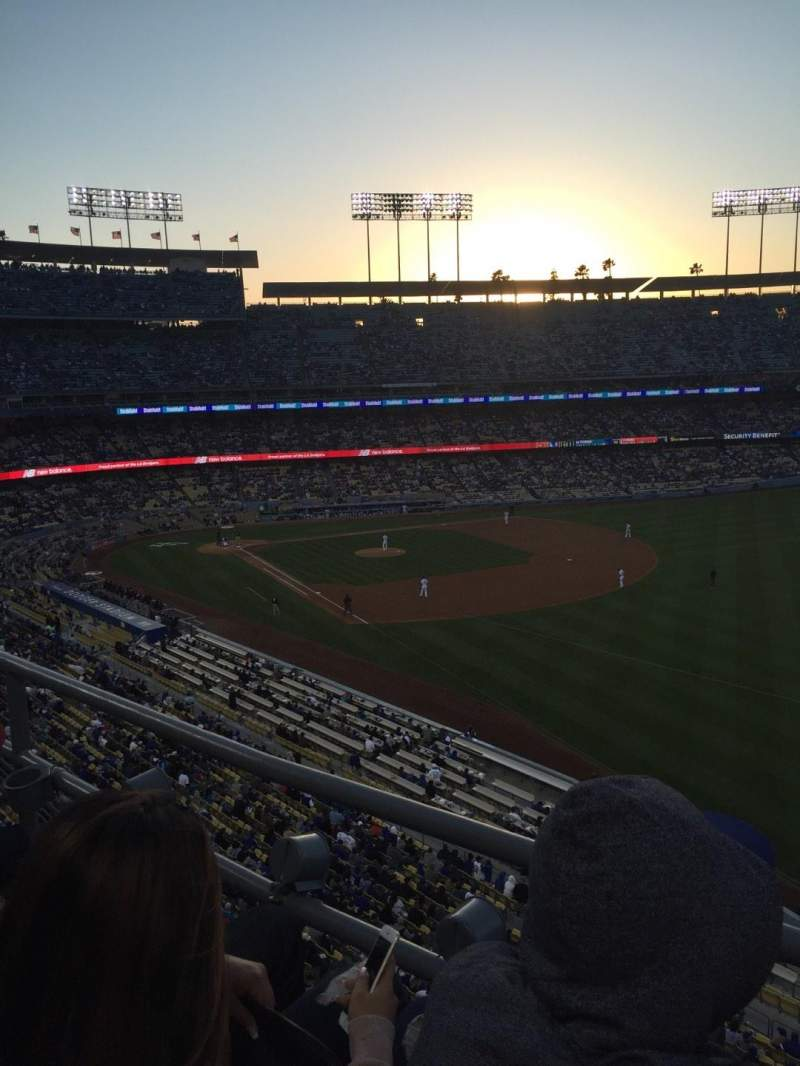 Seating view for Dodger Stadium Section 44RS Row B Seat 18