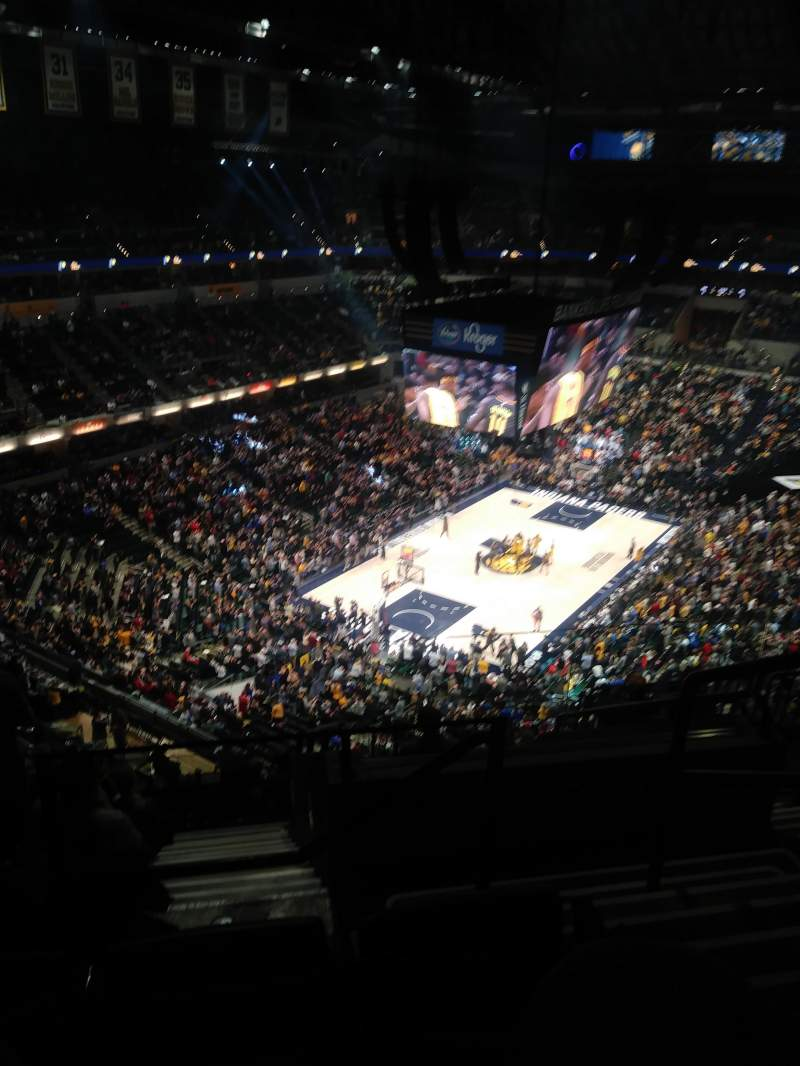 Seating view for Bankers Life Fieldhouse Section 214 Row 10 Seat 2
