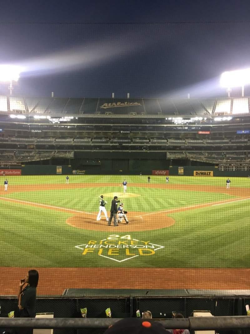 Oakland Alameda Coliseum, section: 117, row: 14, seat: 7