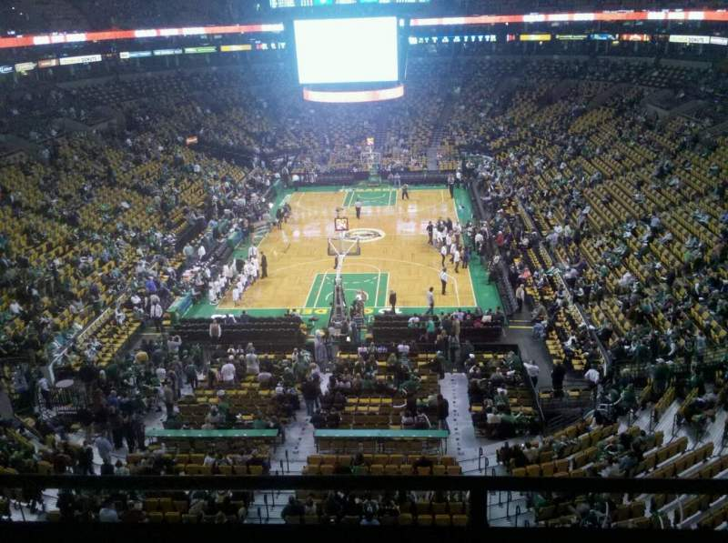Seating view for TD Garden Section Bal 323 Row 2 Seat 11