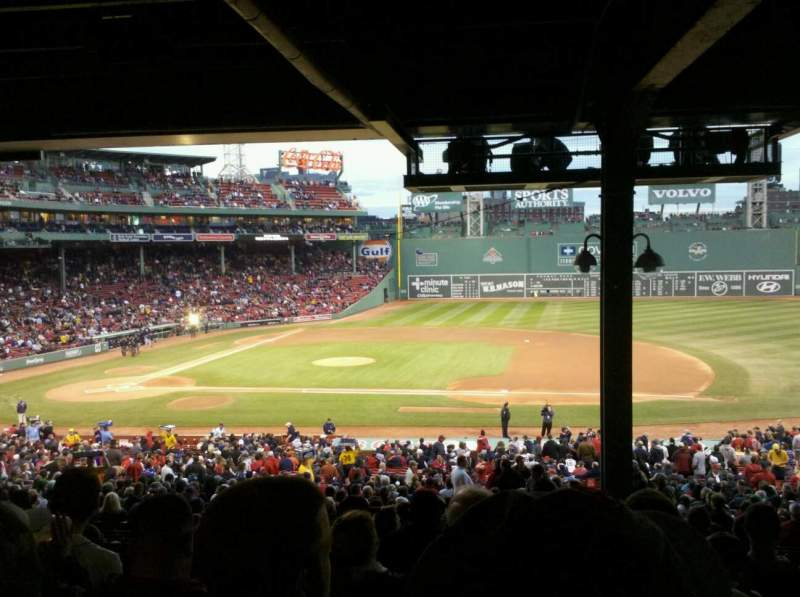Seating view for Fenway Park Section Grandstand 15 Row 16 Seat 5