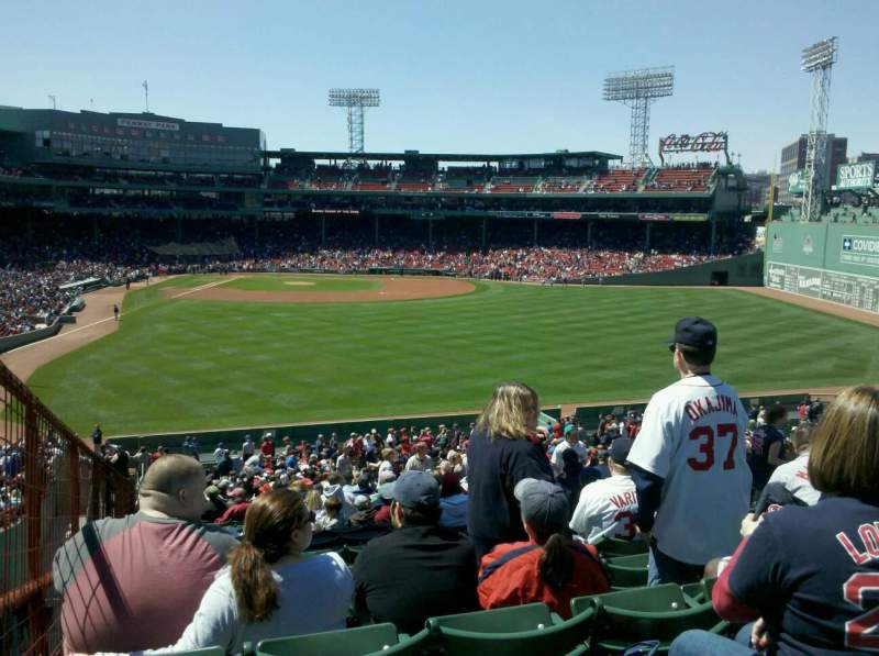 Seating view for Fenway Park Section Bleacher 43 Row 45 Seat 12