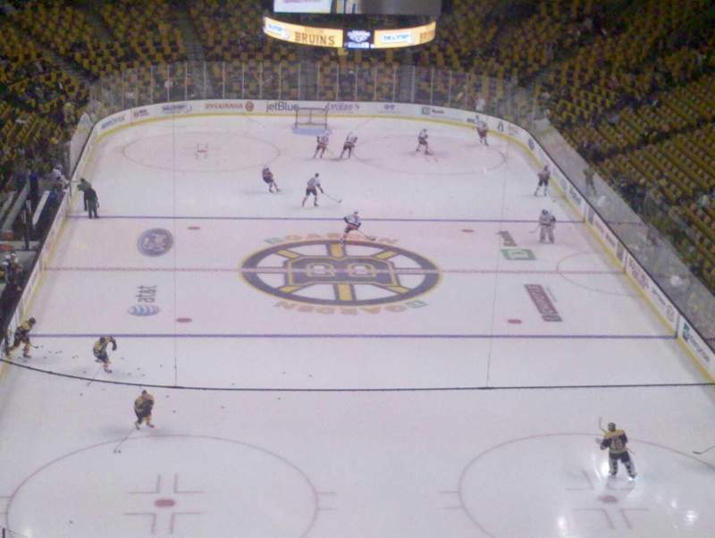 Seating view for TD Garden Section Bal 324 Row 9 Seat 10