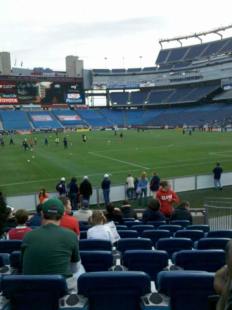 Seating view for Gillette Stadium Section 101 Row 10 Seat 6