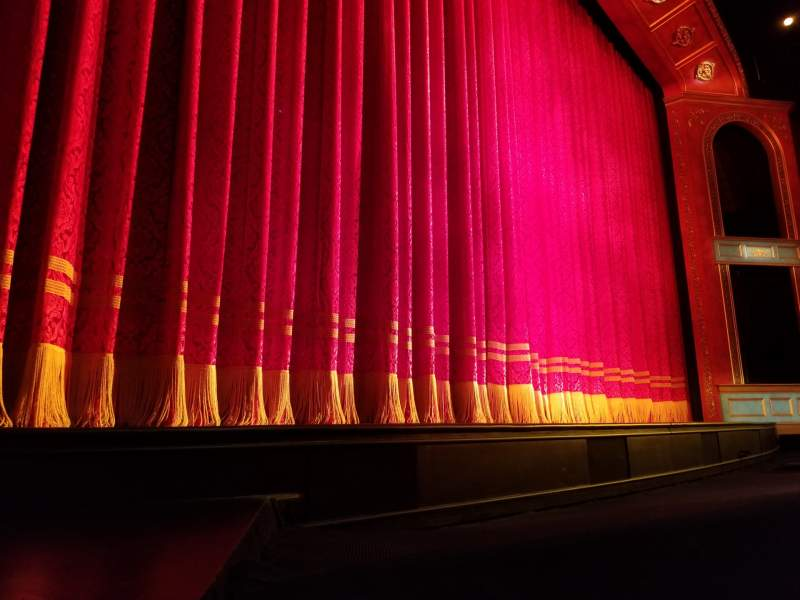 Seating view for Marquis Theatre Section Orchestra L Row A Seat 9