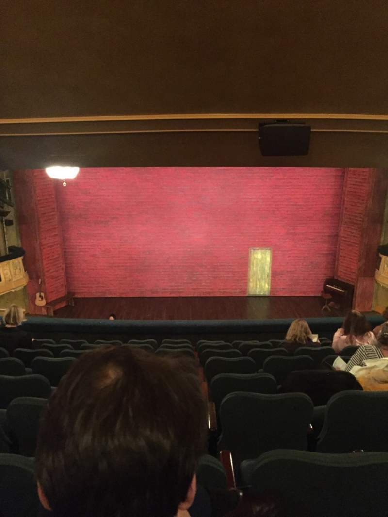 Seating view for Shubert Theatre Section Mezzanine C Row J Seat 108, 109