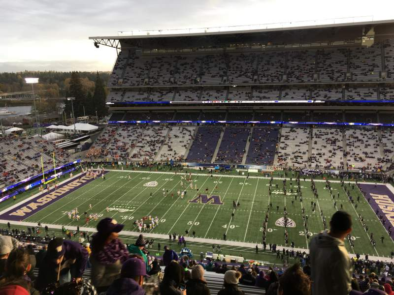 Seating view for Husky Stadium Section 328 Row 34 Seat 2