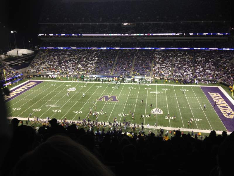 Seating view for Husky Stadium Section 328 Row 34 Seat 3