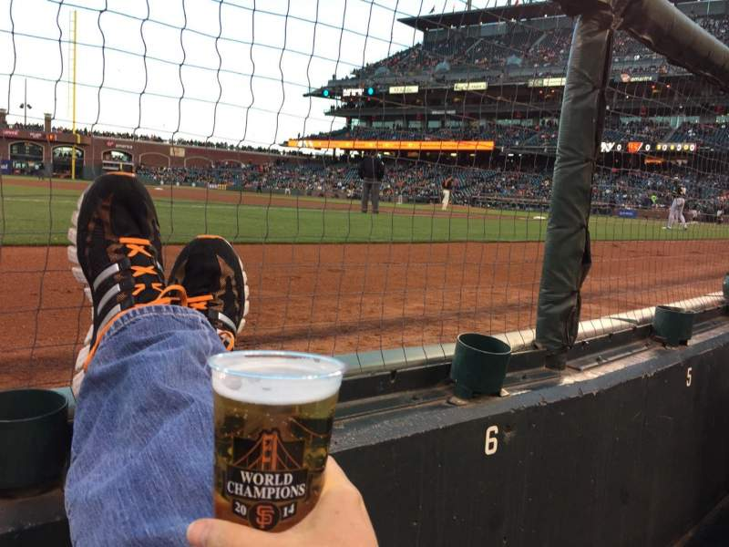 Seating view for AT&T Park Section 126 Row A Seat 7