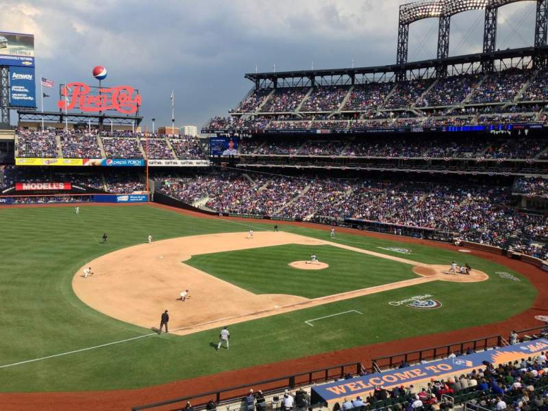 Seating view for Citi Field Section 329 Row 1 Seat 10