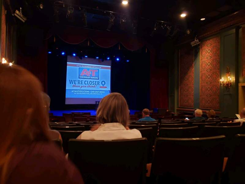 Seating view for Sellersville Theater Section First half Row H Seat 14