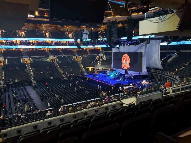 Seating view for Wells Fargo Center Section SB13 Row 7 Seat 3