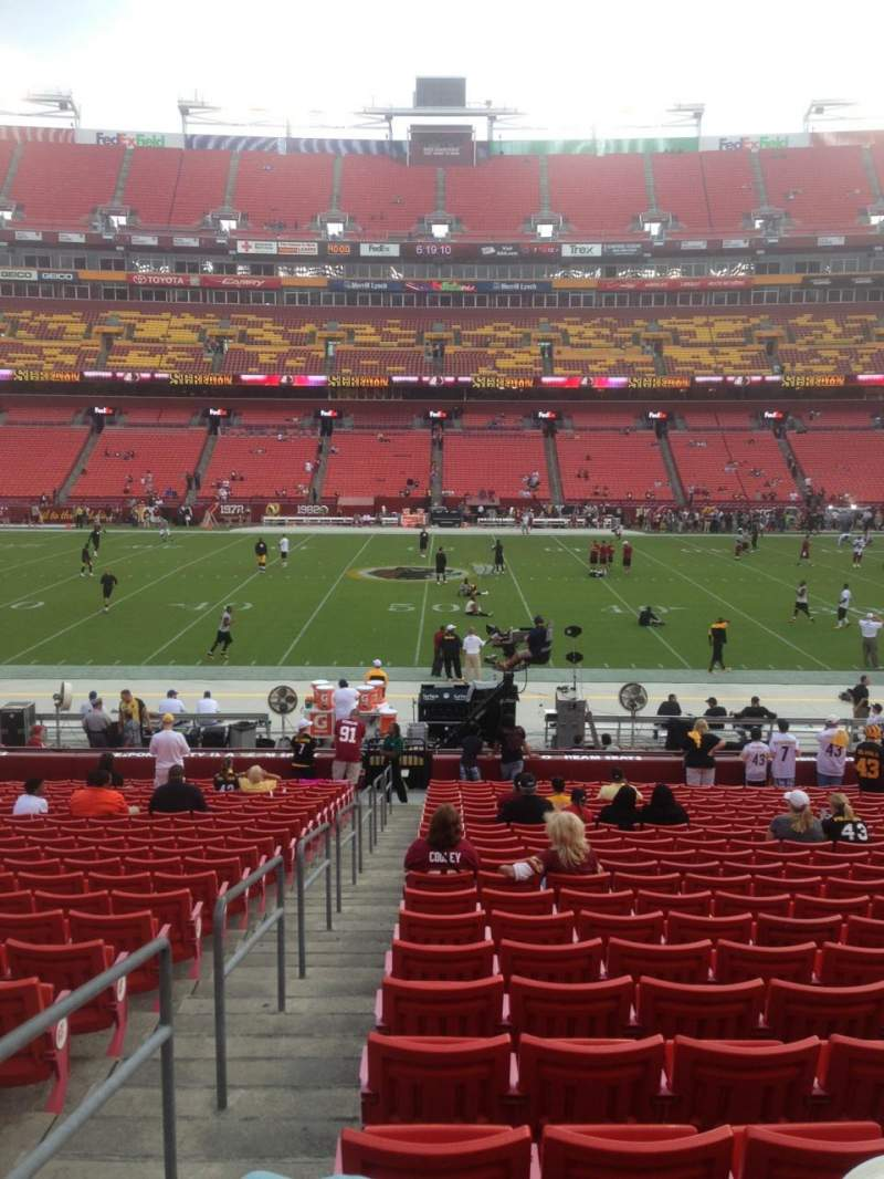 Seating view for FedEx Field Section 121 Row 25 Seat 22
