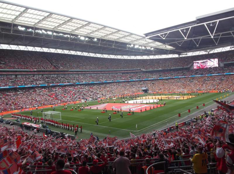 Seating view for Wembley Stadium Section 129 Row 38 Seat 185