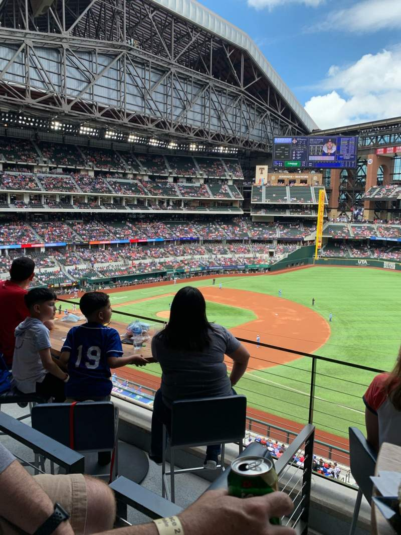 Seating view for Globe Life Field Section Texas Terrace Row 2 Seat 4
