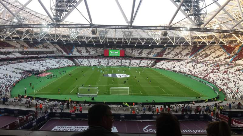 Seating view for London Stadium Section 222 Row 53 Seat 5