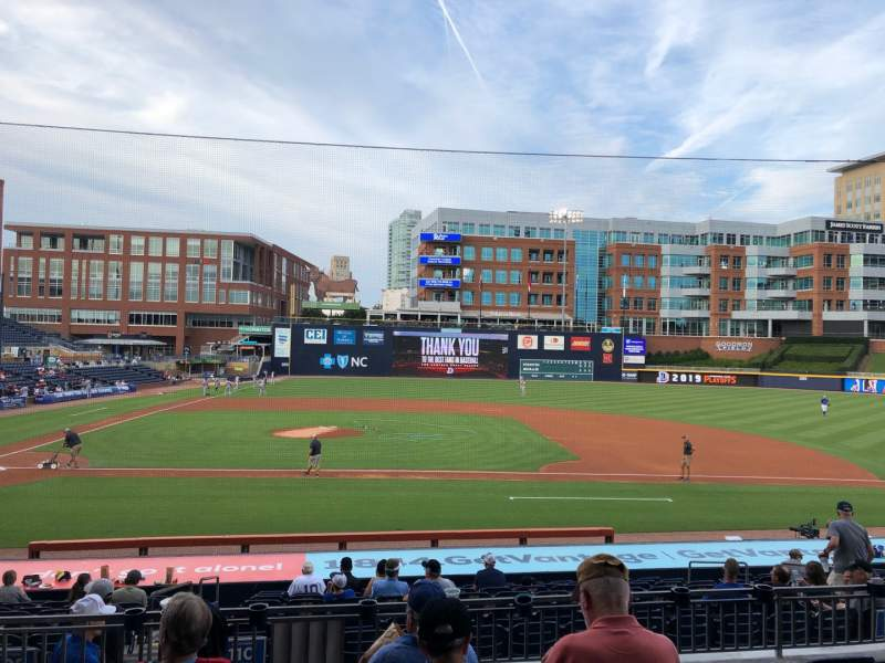 Seating view for Durham Bulls Athletic Park Section 208 Row W Seat 10