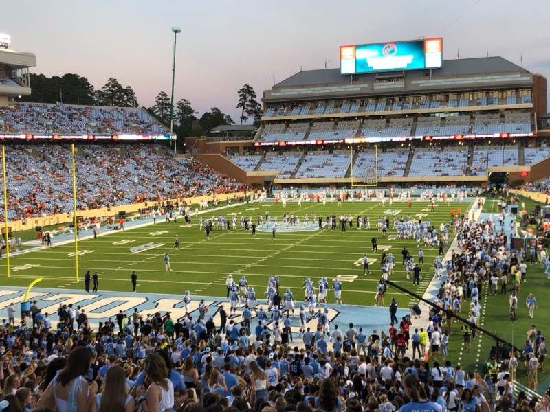 Seating view for Kenan Memorial Stadium Section 118 Row WC Seat 46
