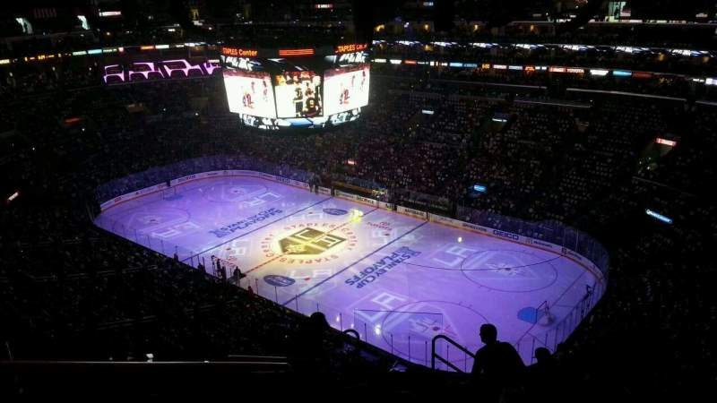 Seating view for Staples Center Section 314 Row 10 Seat 13-14