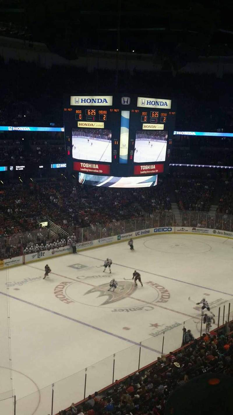 Seating view for Honda Center Section 439 Row C Seat 4-7