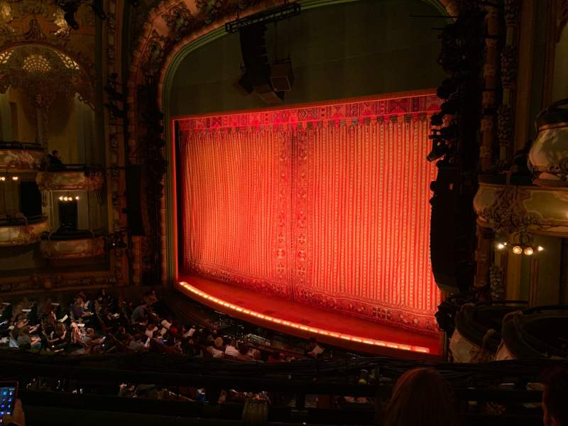 Seating view for New Amsterdam Theatre Section Mezzanine R Row CC Seat 24
