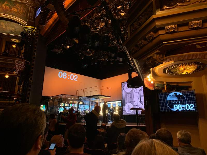 Seating view for Belasco Theatre Section Orchestra R Row G Seat 18