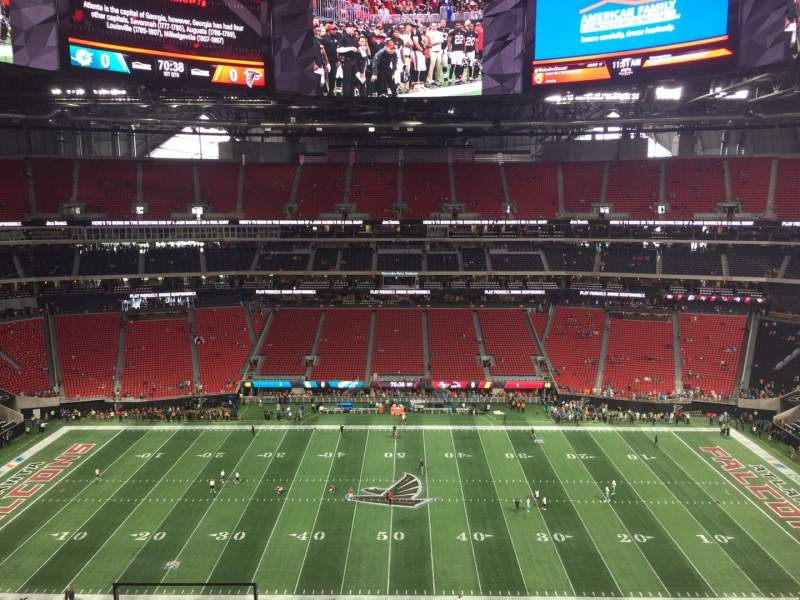 Seating view for Mercedes-Benz Stadium Section 311 Row 7 Seat 17