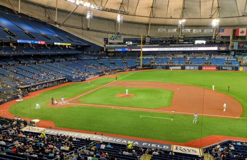 Seating view for Tropicana Field Section 212 Row 1 Seat 16