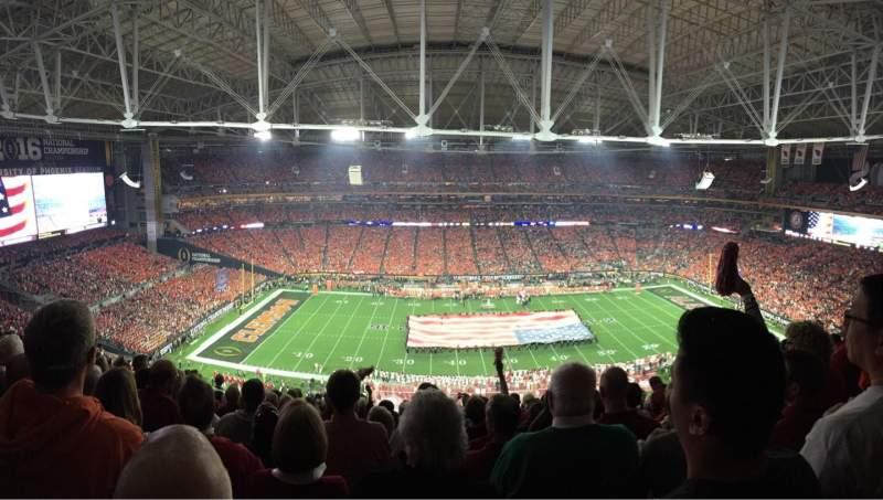 University of Phoenix Stadium, section: 445, row: 12, seat: 6