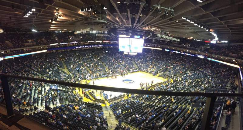 Seating view for Oracle Arena Section 220 Row 1 Seat 10