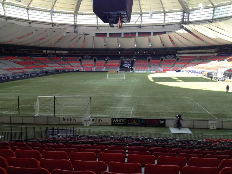 Seating view for BC Place Section 227 Row U Seat 8