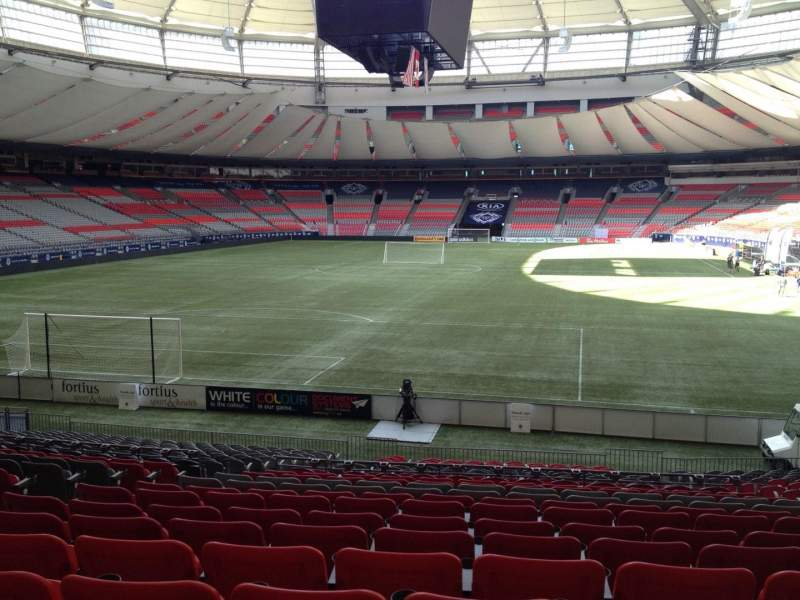Seating view for BC Place Section 226 Row U Seat 7