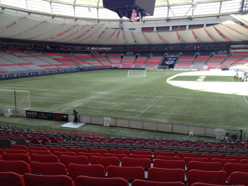 Seating view for BC Place Section 225 Row U Seat 8