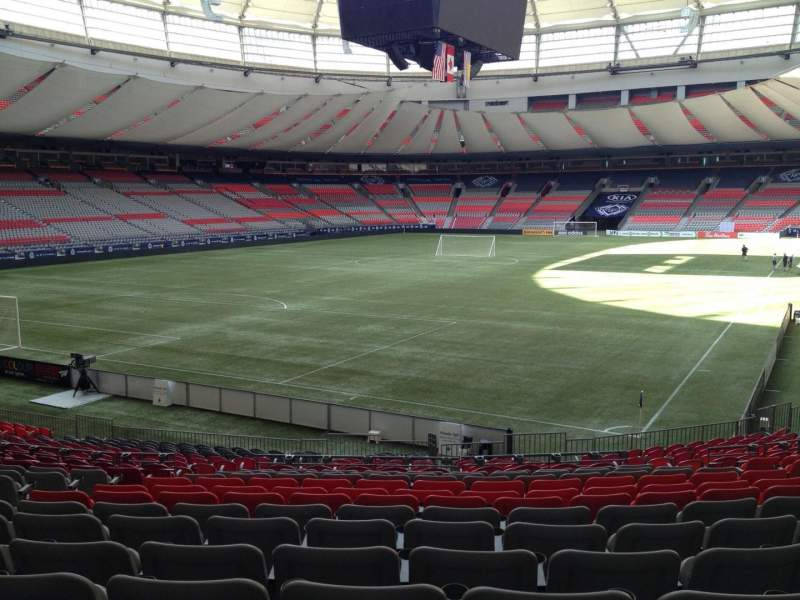 Seating view for BC Place Section 224 Row U Seat 8
