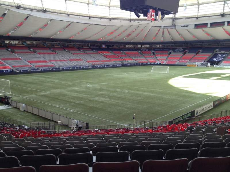 Seating view for BC Place Section 222 Row U Seat 7