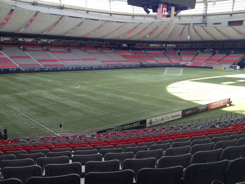 Seating view for BC Place Section 221 Row U Seat 8