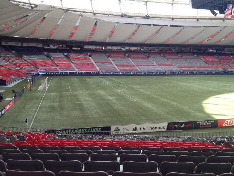Seating view for BC Place Section 219 Row U Seat 8