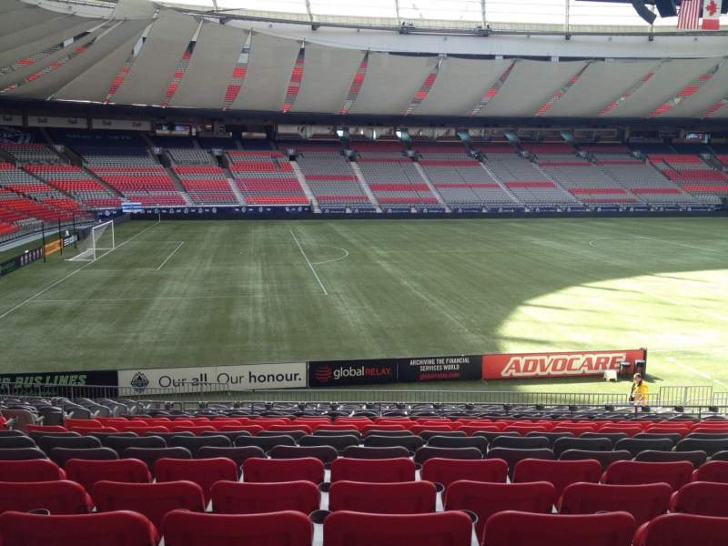 Seating view for BC Place Section 218 Row U Seat 8