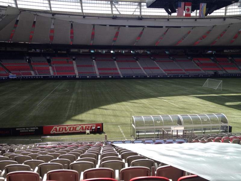 Seating view for BC Place Section 217 Row U Seat 7