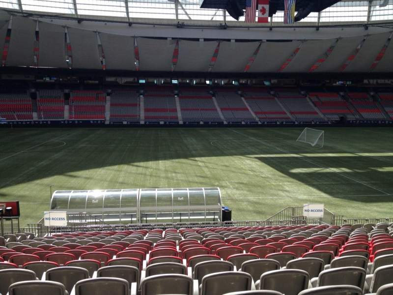 Seating view for BC Place Section 216 Row U Seat 8