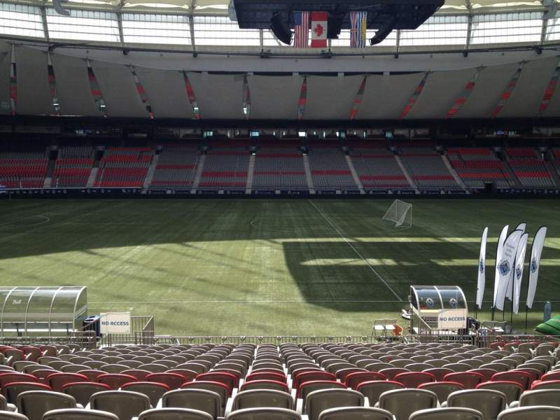Seating view for BC Place Section 215 Row U Seat 8