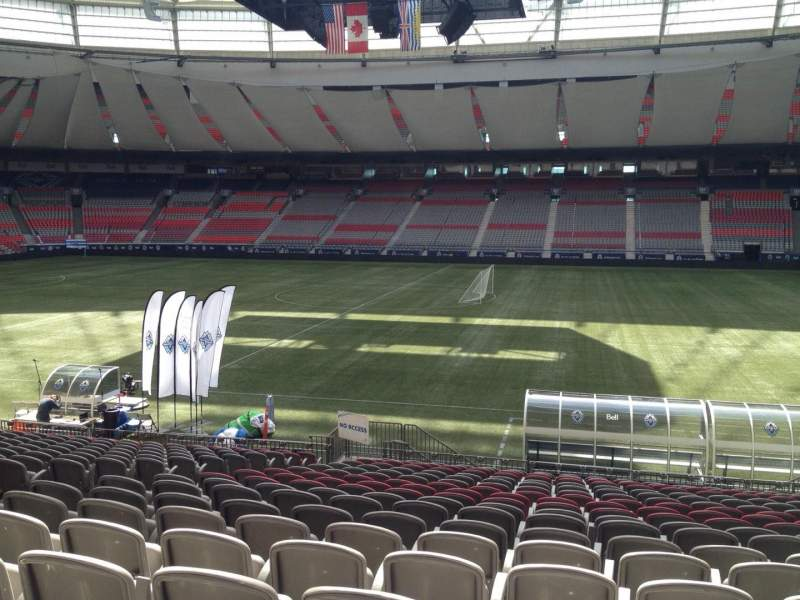 Seating view for BC Place Section 213 Row U Seat 8
