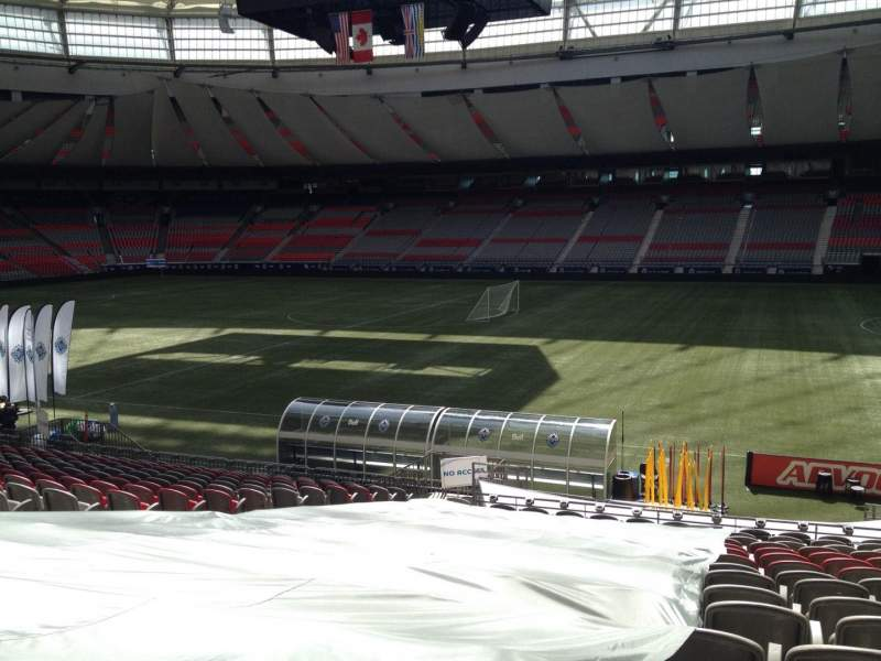 Seating view for BC Place Section 212 Row U Seat 9