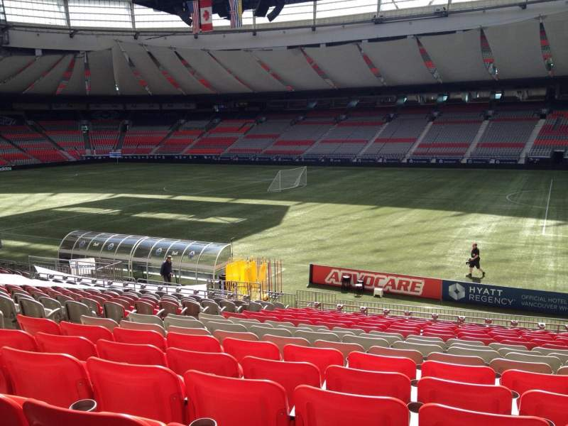 Seating view for BC Place Section 211 Row U Seat 8