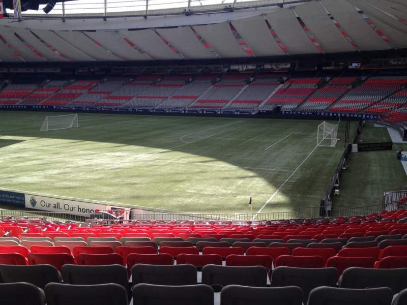 Seating view for BC Place Section 209 Row U Seat 8