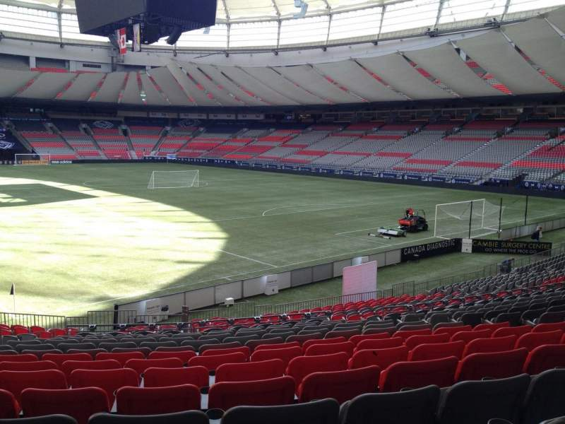 Seating view for BC Place Section 206 Row U Seat 8