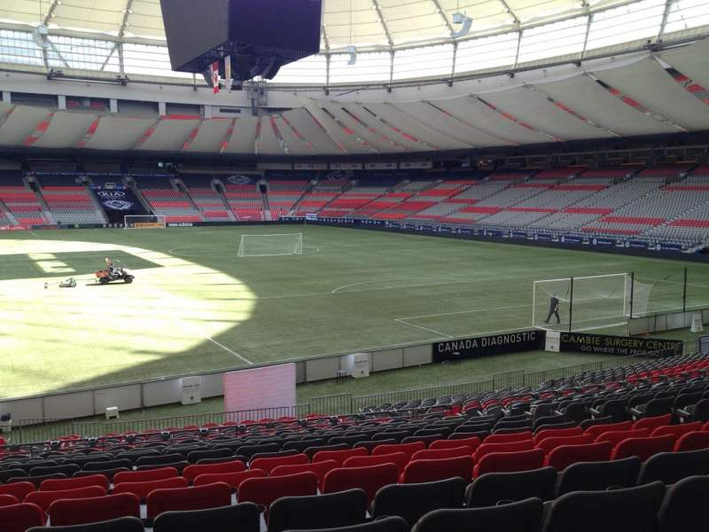 Seating view for BC Place Section 204 Row U Seat 8