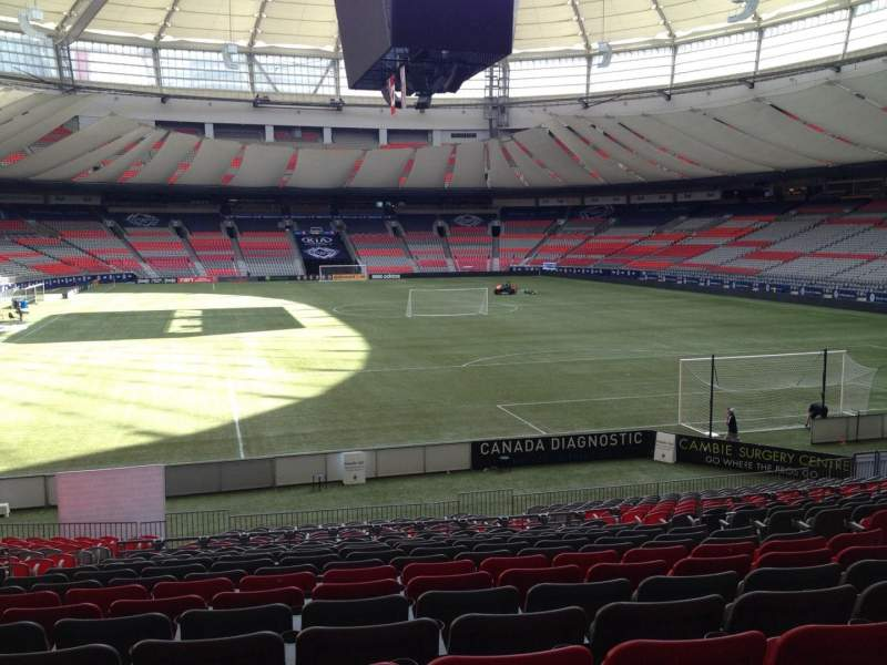 Seating view for BC Place Section 203 Row U Seat 6
